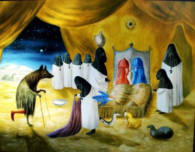The Lovers, by Leonora Carrington, 1987