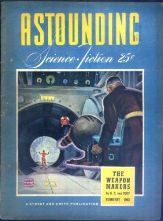The cover of the issue of Astounding Science-fiction Magazine in which Mimsy Were the Borogroves appeared - for 25 cents.