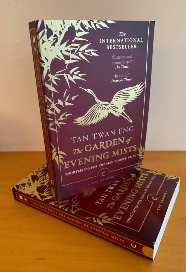 "Copies of The Canons edition from publisher Canongate+Myrmidon of ""The Garden of Evening Mists""."
