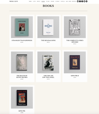 Nick Cave books