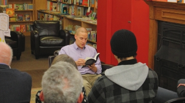 Greg Hickey reads an excerpt from his book, Our Dried Voices, on November 20, 2014, at City Lit Books in Logan Square. (Source: CHIRPRadio.org)